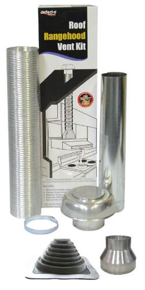 Universal Rangehood Semi Rigid Metal Roof Venting Kit